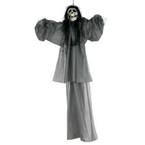 Halloween Pop Skelet Grijs 120cm