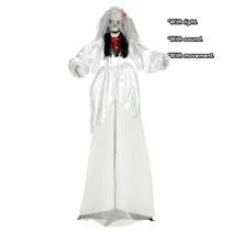 Halloween Pop Bruid met licht, geluid en beweging 170cm