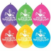 Sinterklaas Ballonnen Welkom 25cm 10 stuks
