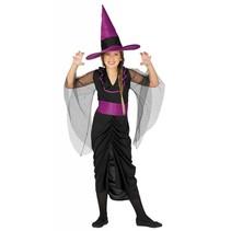 Halloween Kostuum Kind Heks Paars