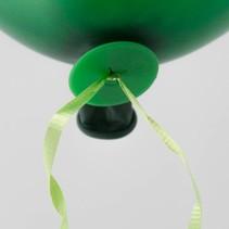 Ballon Snelsluiters Groen met lint 100 stuks