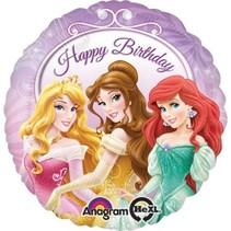 Disney Prinsessen Helium Ballon Happy Birthday 43cm leeg