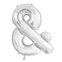 Folie Ballon En-Teken & Zilver XL 86cm leeg