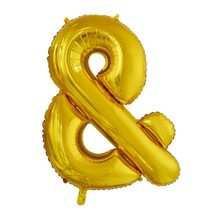 Folie Ballon En-Teken & Goud XL 86cm leeg