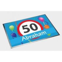Deurmat Abraham 50 Jaar 60x40cm