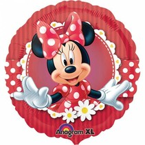 Minnie Mouse Helium Ballon Stippen 45cm leeg