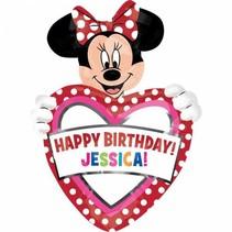 Minnie Mouse Helium Ballon Personaliseerbaar 83x60cm leeg