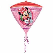 Minnie Mouse Helium Ballon Diamant 43cm leeg