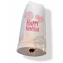 Wensballon XL Happy New Year Wit 1 meter