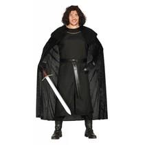Middeleeuws Kostuum Leider Zwart