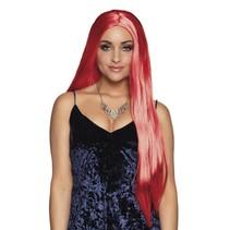 Pruik Lang Haar Stijl Rood
