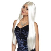 Pruik Lang Haar Stijl Wit