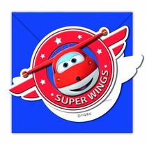 Super Wings Uitnodigingen 6 stuks