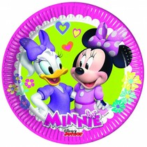 Minnie Mouse Gebaksbordjes Happy 20cm 8 stuks