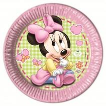 Minnie Mouse Borden Baby 23cm 8 stuks