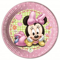Minnie Mouse Gebaksbordjes Baby 20cm 8 stuks