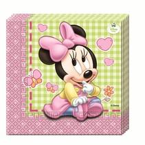 Minnie Mouse Servetten Baby 20 stuks