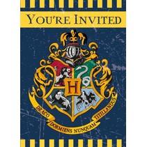 Harry Potter Uitnodigingen 8 stuks