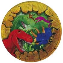 Dinosaurus Gebaksbordjes 18 cm 6 stuks