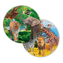 Dieren Borden Safari 23cm 8 stuks