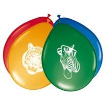 Dieren Ballonnen Safari 8 stuks