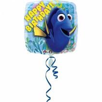 Finding Dory Helium Ballon Happy Birthday 45cm leeg