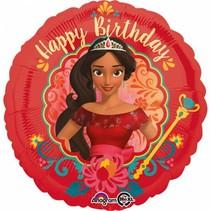 Elena van Avalor Helium Ballon Happy Birthday 45cm leeg