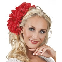 Haarbloem Rood 20cm