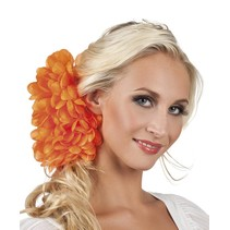 Haarbloem Oranje 20cm