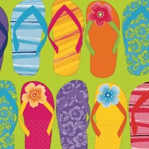 Hawaii Servetten Slippers 16 stuks