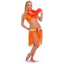 Hawaii Rokje Oranje Stro 45cm