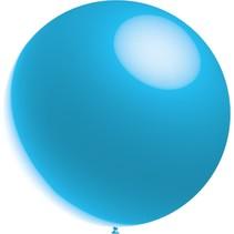Lichtblauwe Reuze Ballon XL Metallic 91cm