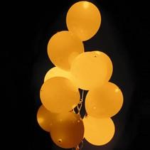 Oranje Led Ballonnen met schakelaar 30cm 4 stuks