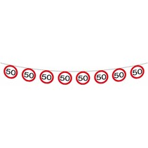 Slingers 50 Jaar Verkeersbord 12 meter