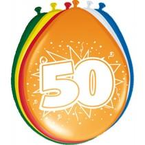 Ballonnen 50 Jaar 30cm 8 stuks