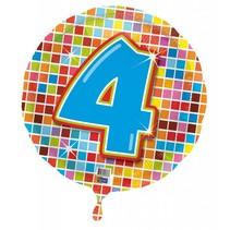 Helium Ballon 4 Jaar 43cm leeg