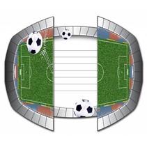Voetbal Uitnodigingen Versiering 8 stuks