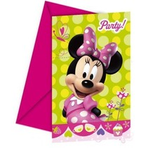 Minnie Mouse Uitnodigingen 6 stuks
