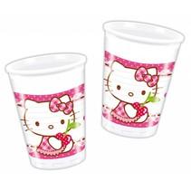 Hello Kitty Bekers 200ml 8 stuks