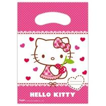 Hello Kitty Uitdeelzakjes 6 stuks