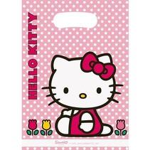 Hello Kitty Uitdeelzakjes Feest 6 stuks