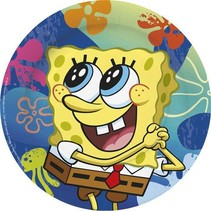 SpongeBob Borden 23cm 6 stuks