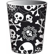 Halloween Bekers Skelet 250ml 8 stuks