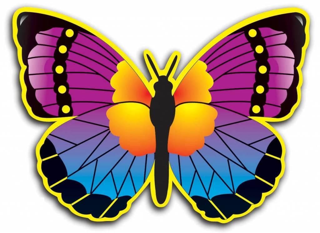 Hawaii Wanddecoratie Vlinders 32cm 4 stuks kopen? | Hawaii-feest.nl