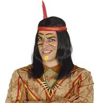 Indianen Pruik