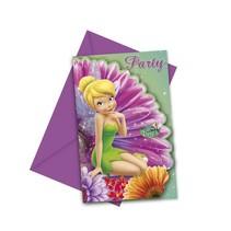 Tinkerbell Uitnodigingen Fairies- 6 stuks