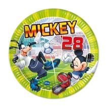 Mickey Mouse Borden Versiering 23cm 8 stuks