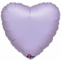 Helium Ballon Hart Lila 45cm leeg