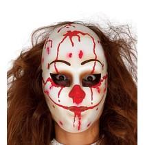 Halloween Masker Clown Vrouw voorkant