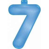 Opblaascijfer 7 Blauw 35cm